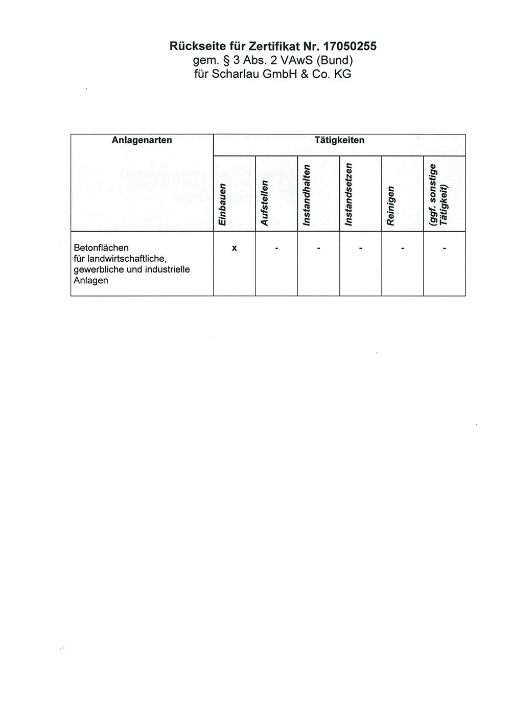 Envizert Zertifikat Seite 2